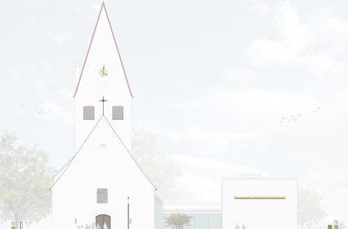 Ansicht Vorplatz Adventskirche